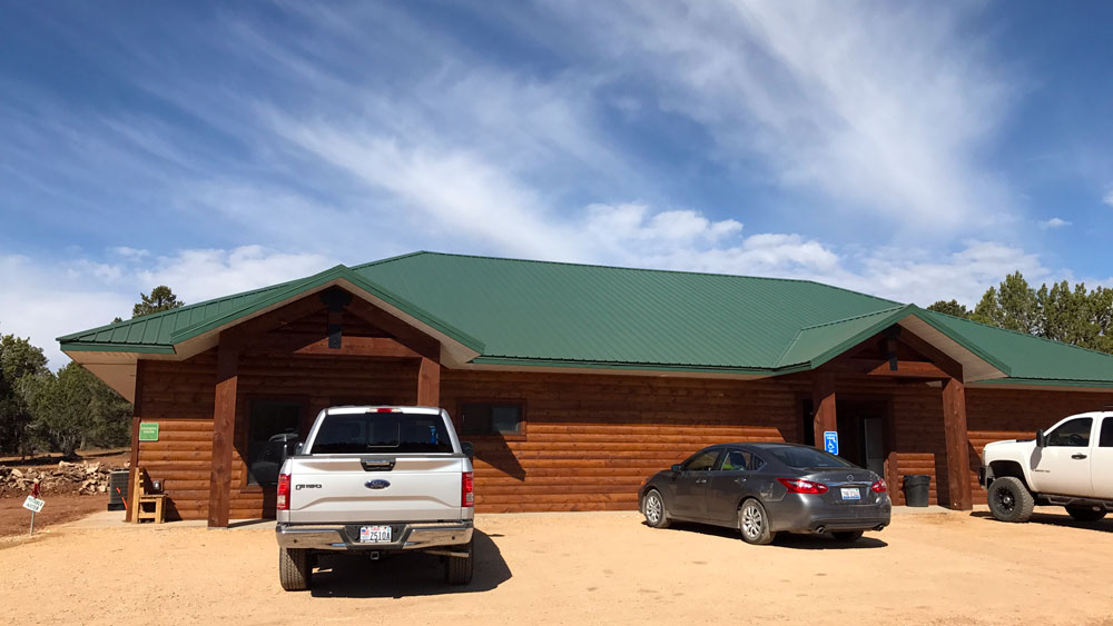 Restrooms, Laundry, Showers are new and clean amenities at Zion Ponderosa Ranch Resort's Zion Crest Campground.