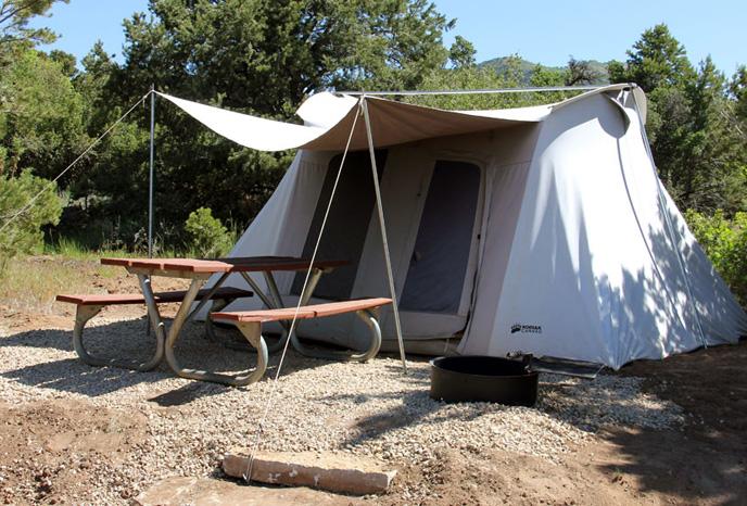 Zion tent camping rentals
